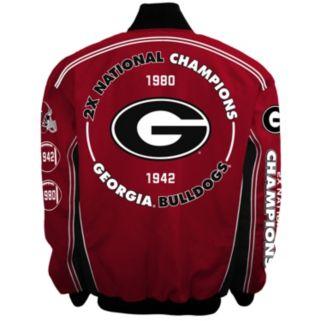Men's Franchise Club Georgia Bulldogs Commemorative Varsity Jacket