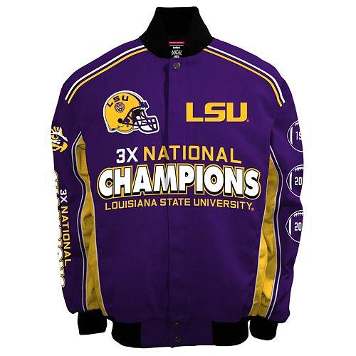 Men's Franchise Club LSU Tigers Commemorative Varsity Jacket