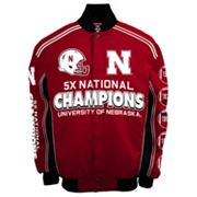 Men's Franchise Club Nebraska Cornhuskers Commemorative Varsity Jacket