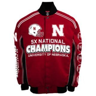 Men's Franchise Club Nebraska Cornhuskers Commemorative Varsity Jacket