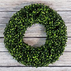 Click here to buy Pure Garden 16.5-in. Artificial Boxwood Wreath .