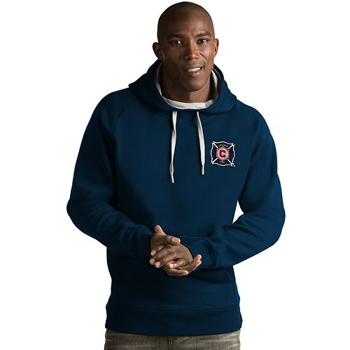 Men's Antigua Chicago Fire Victory Pullover Hoodie