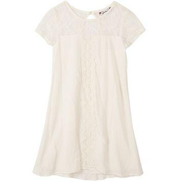 Girls 7-16 Speechless Short Sleeve Lace Overlay Sheath Dress