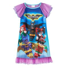 Girls 4-10 The LEGO Batman Movie Robin & Batgirl Teamwork Nightgown