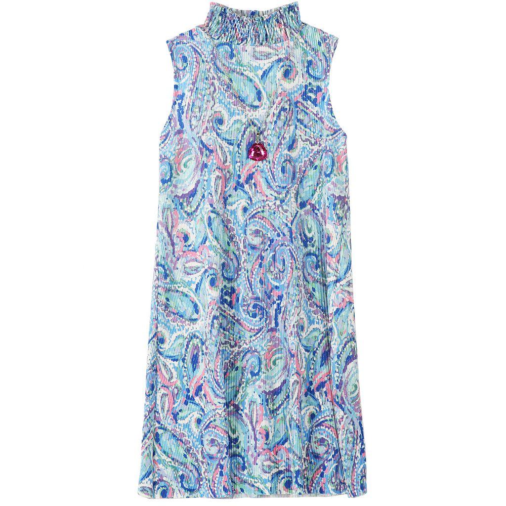 Girls 7-16 Speechless Paisley High Collar Mockneck Sheath Dress