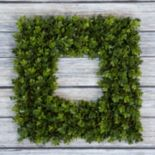 Pure Garden Artificial Boxwood Square Wreath