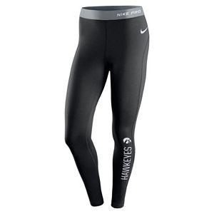 Women's Nike Iowa Hawkeyes Hyperwarm Tights