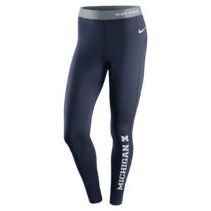 Women's Nike Michigan Wolverines Hyperwarm Tights