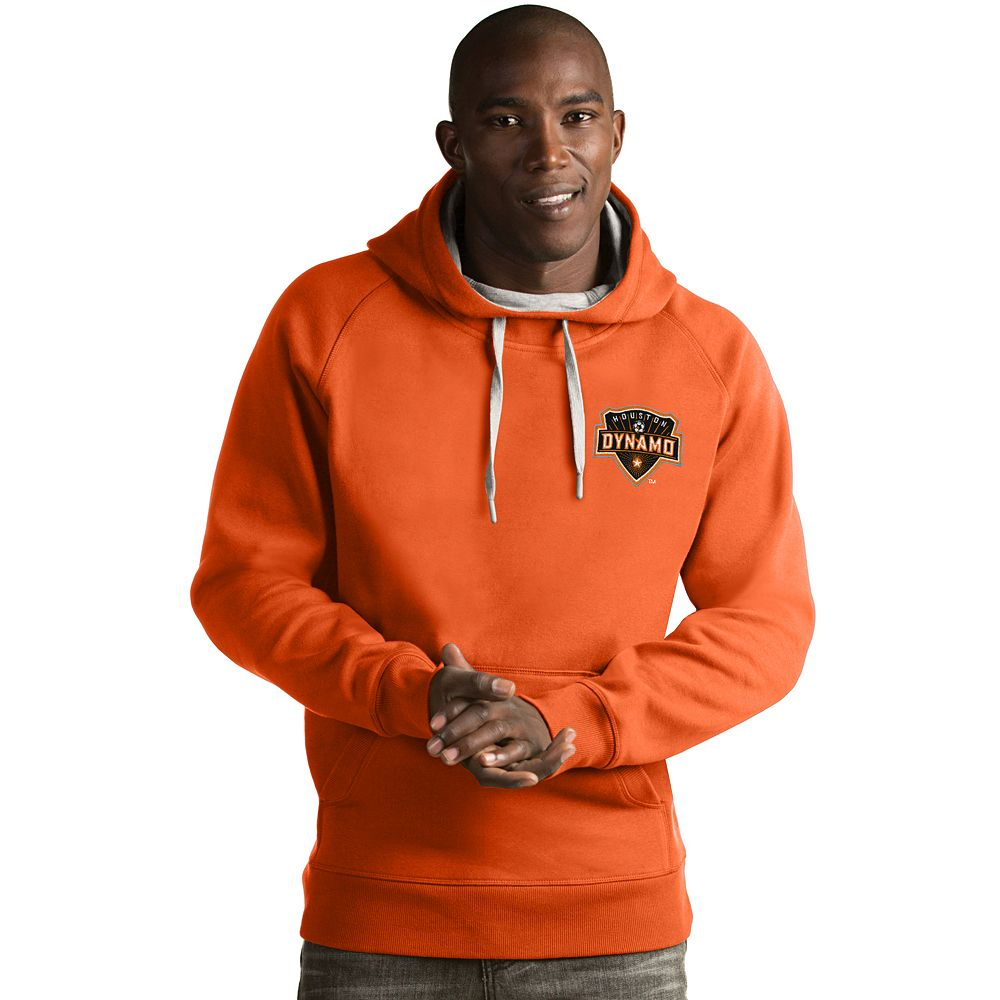 Men's Antigua Houston Dynamo Victory Pullover Hoodie
