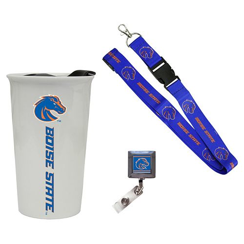Boise State Broncos Badge Holder, Lanyard & Tumbler Job Pack