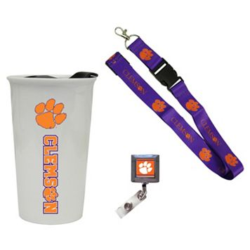 Clemson Tigers Badge Holder, Lanyard & Tumbler Job Pack