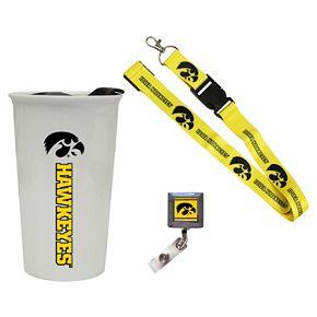 Iowa Hawkeyes Badge Holder, Lanyard & Tumbler Job Pack
