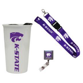 Kansas State Wildcats Badge Holder, Lanyard & Tumbler Job Pack