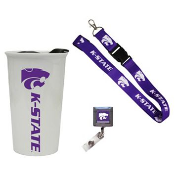 Kansas State Wildcats Badge Holder, Lanyard & Tumbler Job Pack