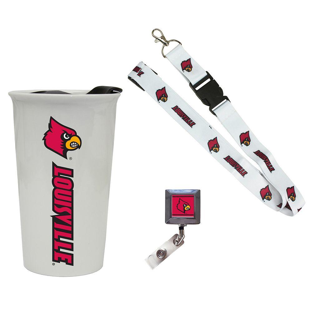 Louisville Cardinals Badge Holder, Lanyard & Tumbler Job Pack