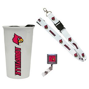 Louisville Cardinals Badge Holder, Lanyard & Tumbler Job Pack