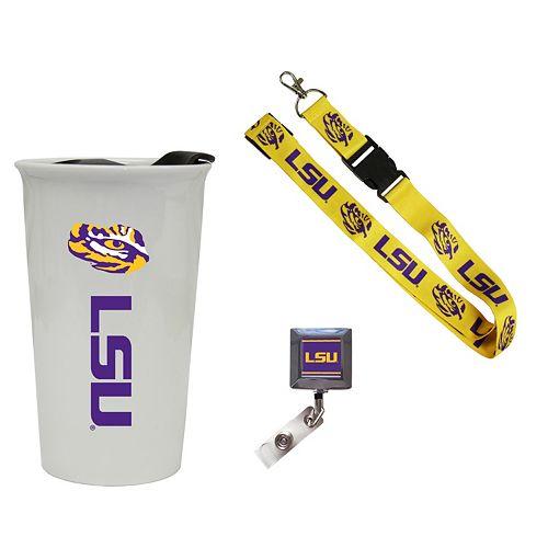 LSU Tigers Badge Holder, Lanyard & Tumbler Job Pack