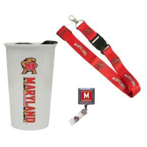 Maryland Terrapins Badge Holder, Lanyard & Tumbler Job Pack