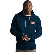 Men's Antigua New England Revolution Victory Pullover Hoodie