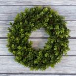 Pure Garden 14 in Artificial Boxwood Wreath