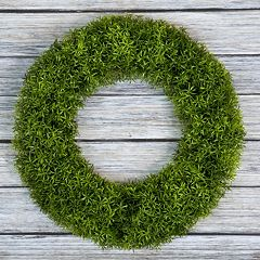 Pure Garden Artificial Grass Wreath