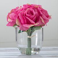 Pure Garden Artificial Rose Floral Arrangement