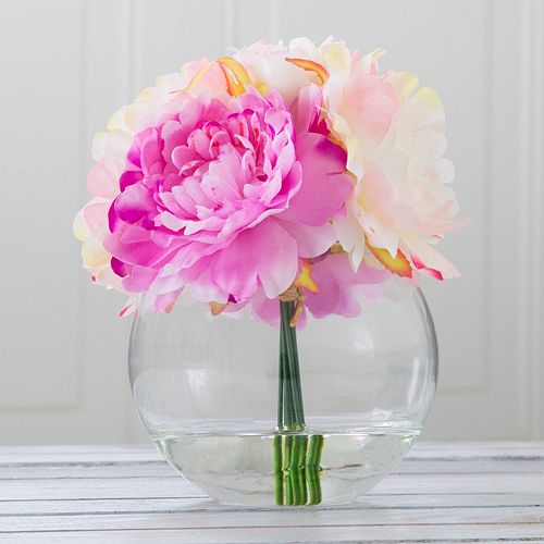 Pure Garden Artificial Peony Floral Arrangement