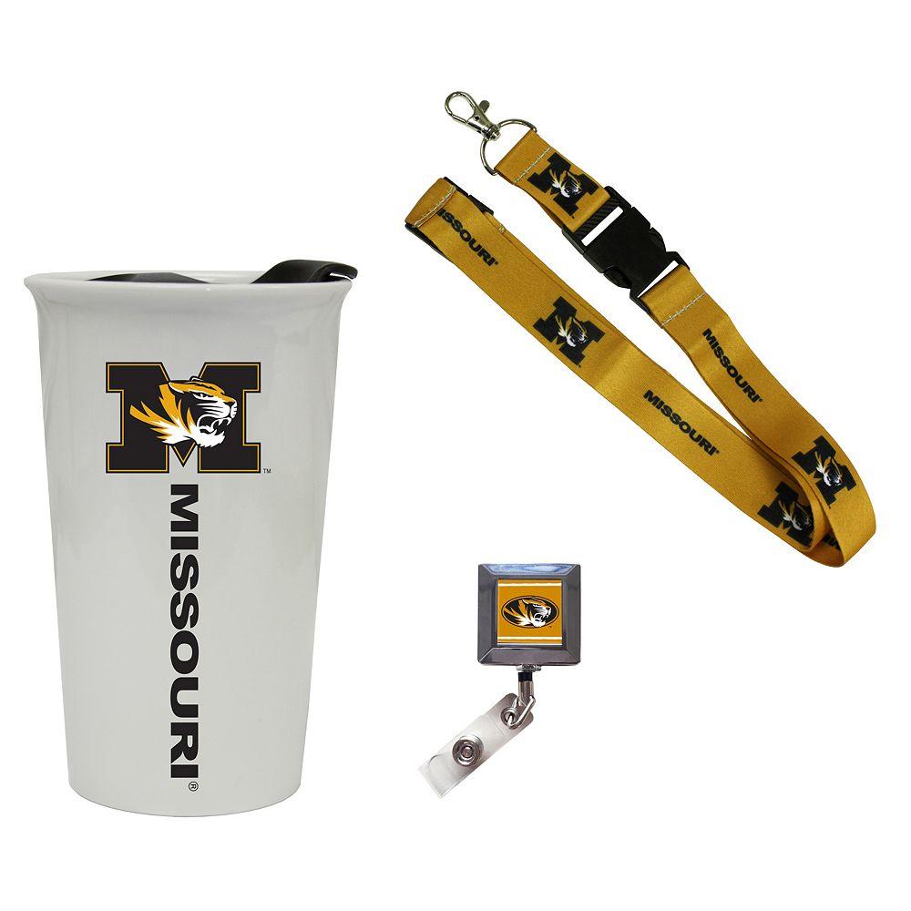 Missouri Tigers Badge Holder, Lanyard & Tumbler Job Pack