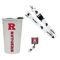 Rutgers Scarlet Knights Badge Holder, Lanyard & Tumbler Job Pack