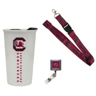 South Carolina Gamecocks Badge Holder, Lanyard & Tumbler Job Pack