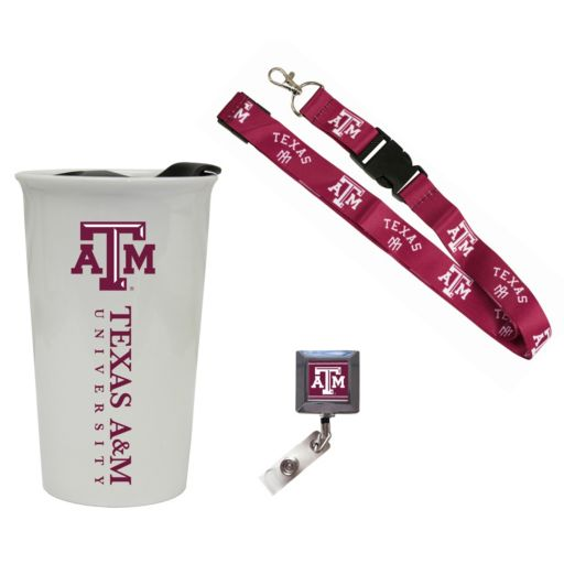 Texas A&M Aggies Badge Holder, Lanyard & Tumbler Job Pack