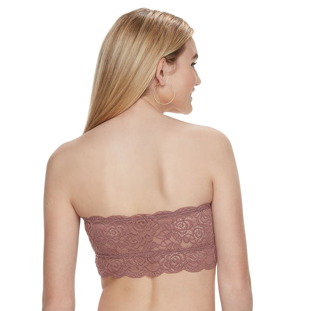 Juniors' Mudd® Ruched Lace Bandeau
