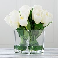 Pure Garden Artificial Tulip Floral Arrangement