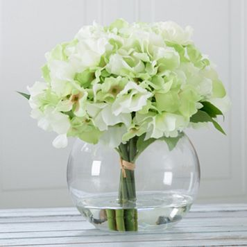 Pure Garden Artificial Hydrangea Flower Arrangement
