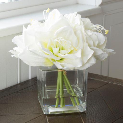 Pure Garden Artificial Lily Floral Arrangement