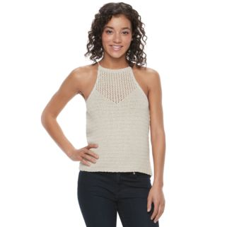 Juniors' Mason & Belle Sweater Crop Tank