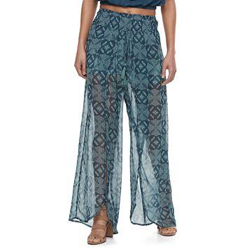 Juniors' Mason & Belle Split Front Soft Pants