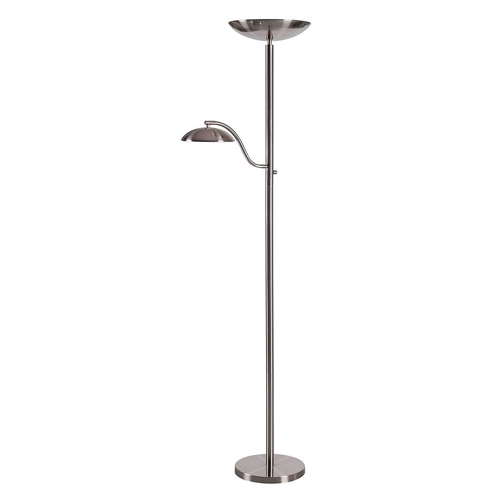 Kenroy Home Crescent 2-Light Torchiere Floor Lamp
