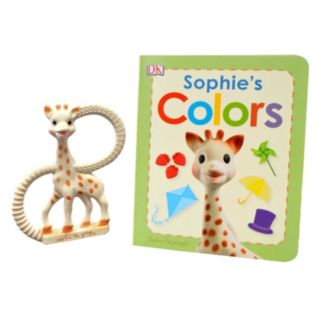 "Sophie La Girafe ""Sophie's Colors"" 12-pg. Book & Teether Gift Set"