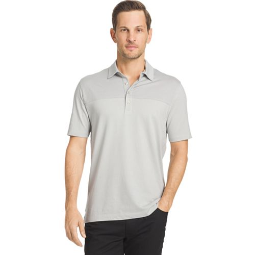Big & Tall Van Heusen Classic-Fit Colorblock Self-Collar Feeder Polo
