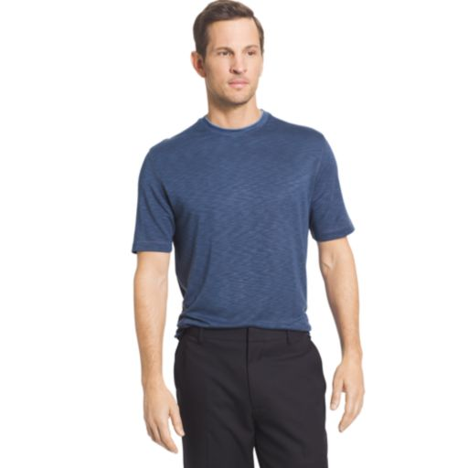 Big & Tall Van Heusen Classic-Fit Slubbed Mock-Layer Crewneck Tee