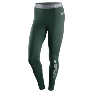 Women's Nike Michigan State Spartans Hyperwarm Tights