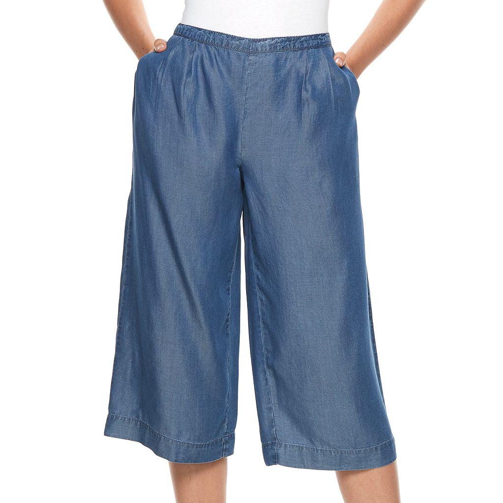 Women's Apt. 9® Chambray Wide-Leg Culottes
