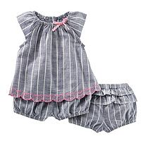 Baby Girl OshKosh B'gosh® Striped Top & Bloomer Set