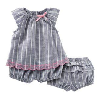 Baby Girl OshKosh B'gosh® Striped Top & Bloomer Set