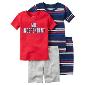 "Boys 4-8 Carter's 4-Piece ""Mr. Independent"" Pajama Set"