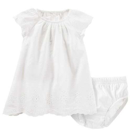 Baby Girl OshKosh B'gosh® Eyelet Swing Dress