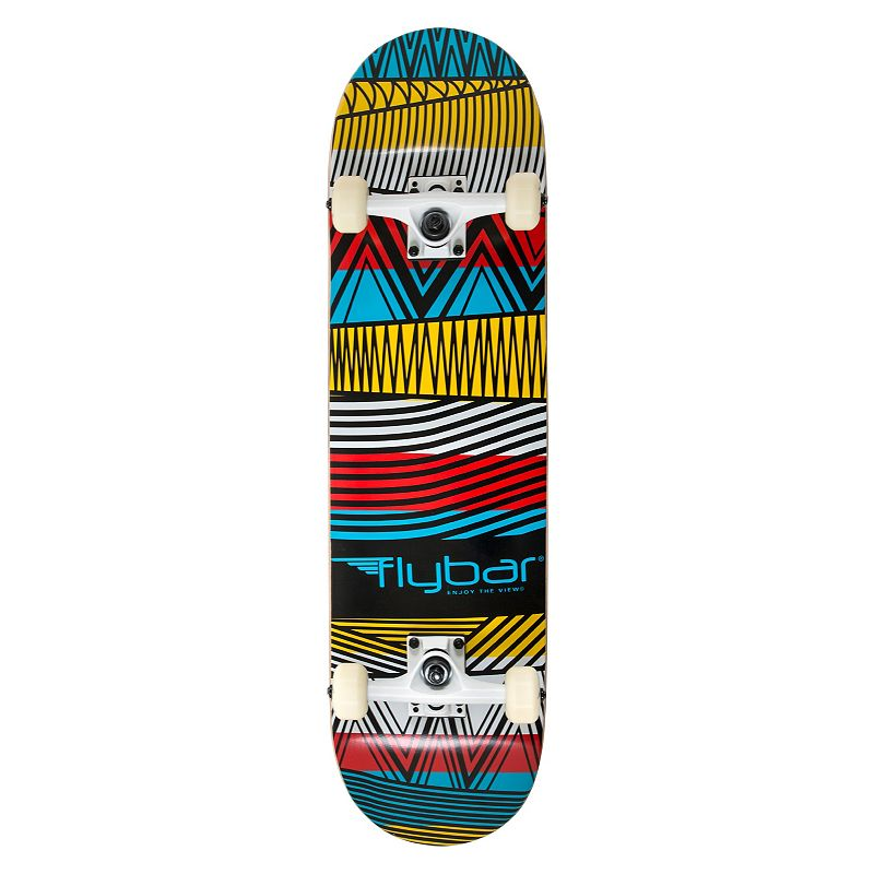 Flybar 31-Inch Tribal Double Kick Skateboard, Other Clrs