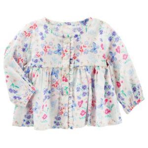 Baby Girl OshKosh B'gosh® Floral Butterfly Ruffle Shirt