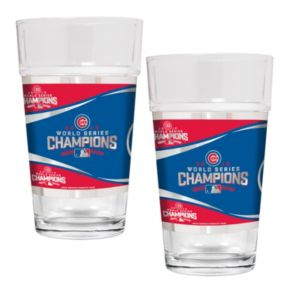 Chicago Cubs 2016 World Series Champions Shaker Glass Set